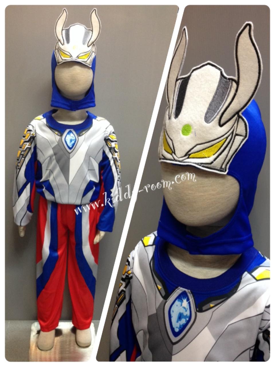 Ultraman Zero (งานลิขสิทธิ์) ชุดแฟนซีเด็กอุลตร้า ซีโร่ 3 ชิ้น เสื้อ กางเกง & หน้ากาก ให้คุณหนูๆ ได้ใส่ตามจิตนาการ ผ้ายืด ใส่สบายค่ะ หรือจะใส่เป็นชุดนอนก็ได้ค่ะ งานสวย ห้ามพลาดนะคะ size S, M, L, XL