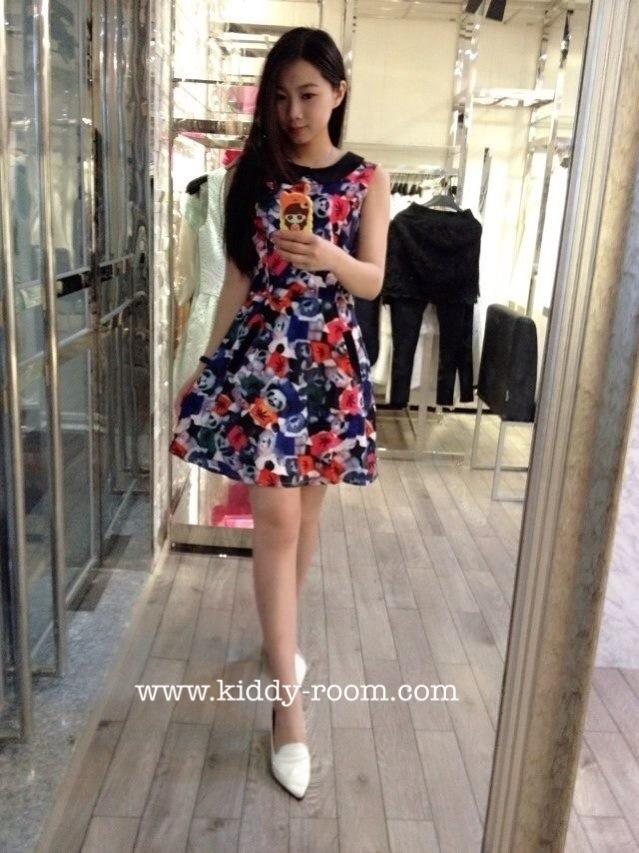 (เด็กโต) เดรสชีฟอง Zara แขนกุด ลายน้องหมีแพนด้า มีซับใน ผ้านิ่ม ใส่สบายมากค่ะ (made in korea) 13-17 ( 8-15 ปี)