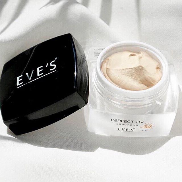 แพ็คเกจใหม่ EVE's Perfect UV Sun Cream SPF 50 PA+++ กันแดดอีฟส์