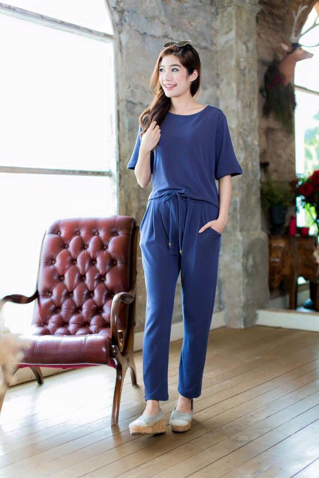 Trousers Set สีเทา