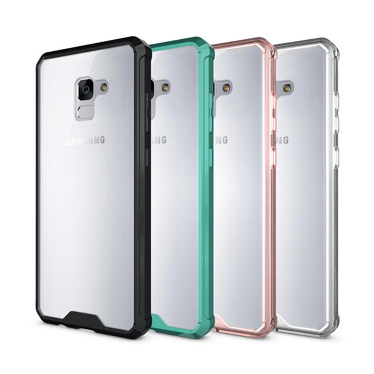 (436-377)เคสมือถือซัมซุง Case Samsung A8+ 2018 เคสขอบนิ่มพื้นหลังใสสไตล์กันกระแทก