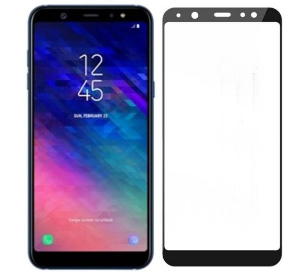 (436-467)ฟิล์มกระจก 3D Samsung A6/A6+ 2018 นิรภัยเมมเบรนกันรอยขูดขีดกันน้ำกันรอยนิ้วมือ 9H Tempered Glass
