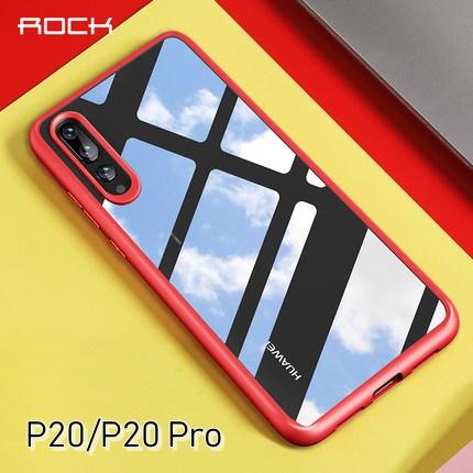 (523-004)เคสโทรศัพท์มือถือหัวเว่ย Case Huawei P20 Pro เคสขอบยางพื้นหลังพลาสติกใสสไตล์ ROCK