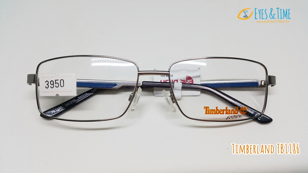 กรอบแว่นตา Timberland รุ่น TB1186 ทรงเหลี่ยม กรอบเงิน