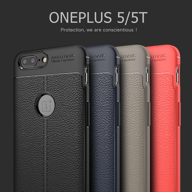 (538-017)เคสมือถือ Case OnePlus 5 เคสนิ่มลายหนังแฟชั่นกันกระแทก