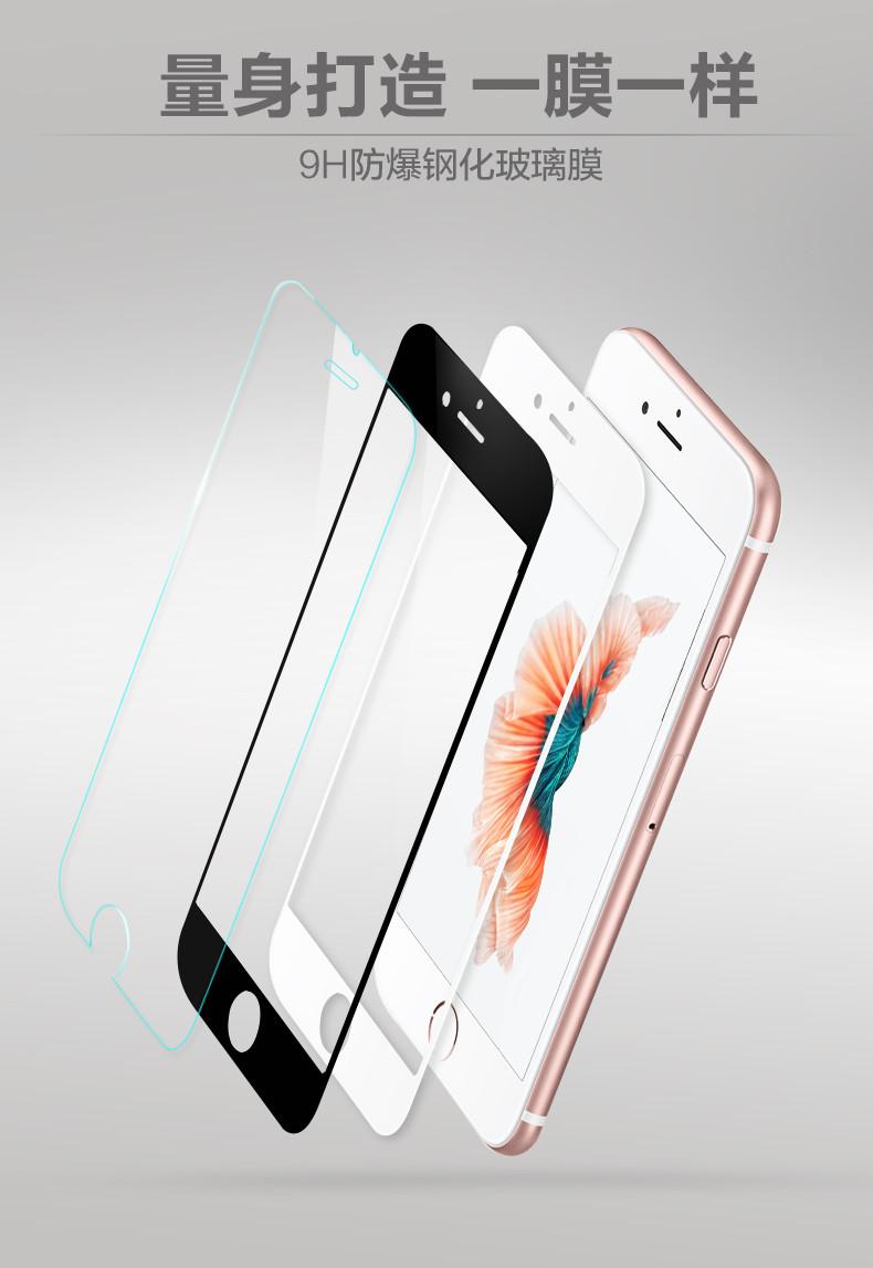 iPhone 6 Plus / 6s Plus (เต็มจอ) - ฟิลม์ กระจกนิรภัย P-One 9H 0.26m ราคาถูกที่สุด