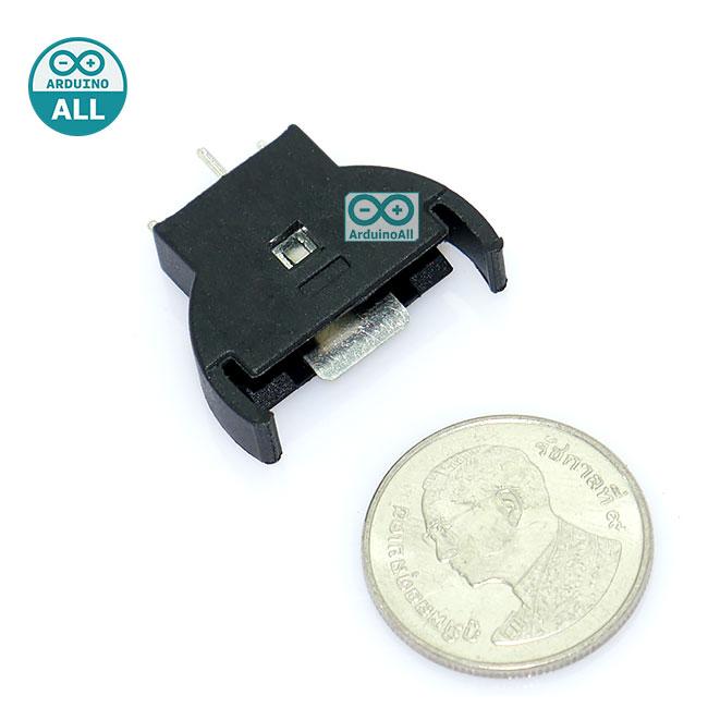2032 Battery Holder Vertical Button Battery Holder CR2032 Battery Box รางถ่าน ขนาด 2032