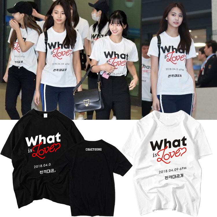 เสื้อยืด TWICE What is Love Logo -ระบุสี/ไซต์-