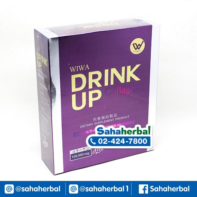 Wiwa Collagen Drink Up อาหารเสริมผิวขาว ลดฝ้า SALE 60-80% ฟรีของแถมทุกรายการ