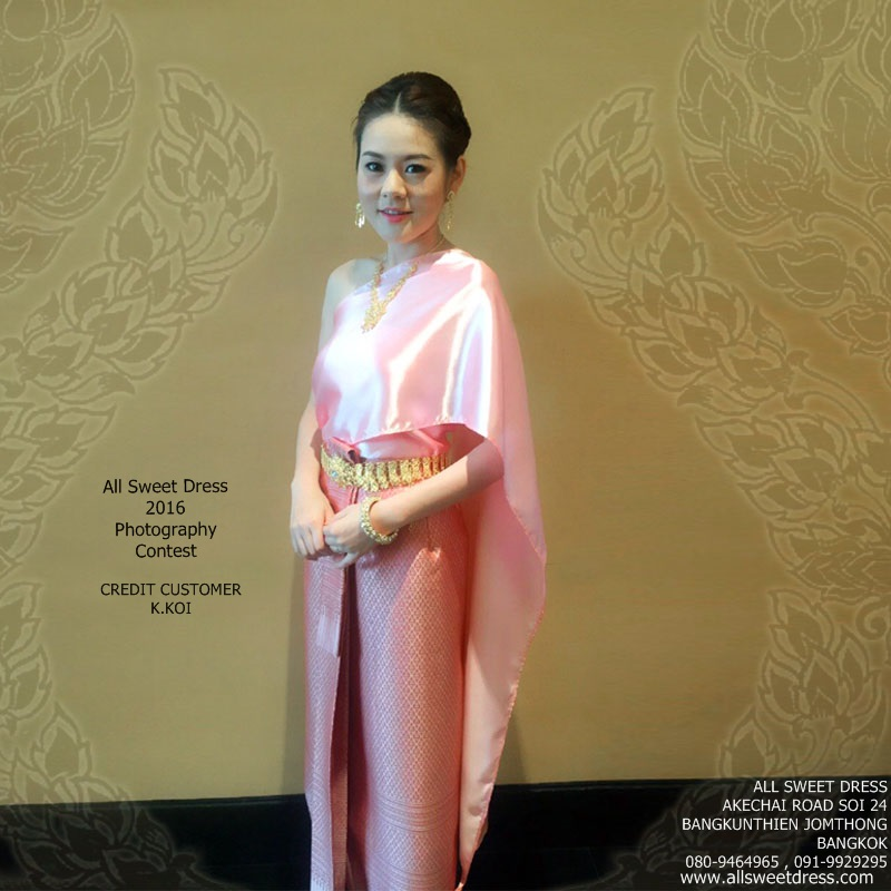 รีวิวชุดไทยสไบเรียบเพื่อนเจ้าสาวสวยหรูแบบเดี่ยวๆ ที่เห็นความงดงามอย่างไทยด้วยผ้าถุงลายไทยสวยหรูจากน้องก้อยค่ะ