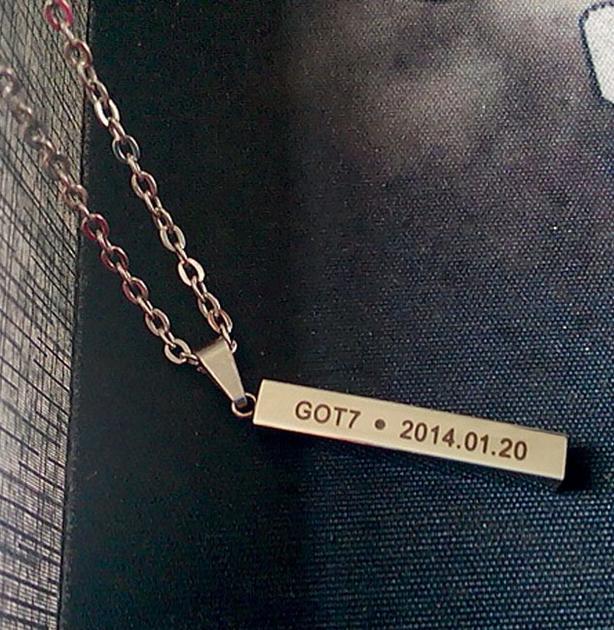 สร้อยคอเงิน GOT7 DEBUT 20140120
