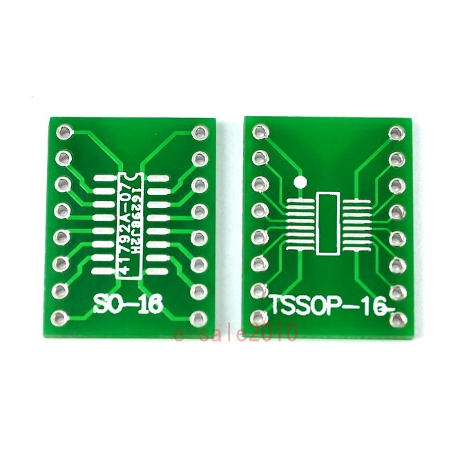 TSSOP16 SSOP16 MSOP16 SO16 SOP16 SOIC16 turn DIP16 1.27MM / 0.65MM IC adapter Socket / Adaptea plate / PCB