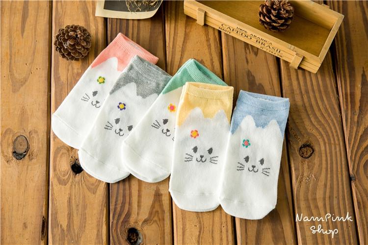 Cats socks ถุงเท้าลายแมวน่ารัก (3 คู่ 100 บาท)
