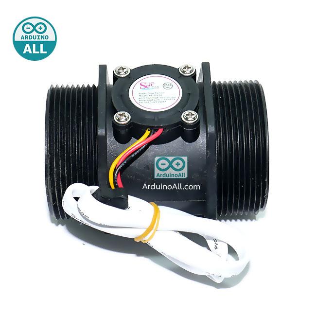เซนเซอร์วัดอัตราการไหลของน้ำ ท่อขนาด DN50 water flow sensor YF-DN50