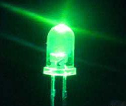 Supper Brigth LED 3mm Green(20 ชิ้น)