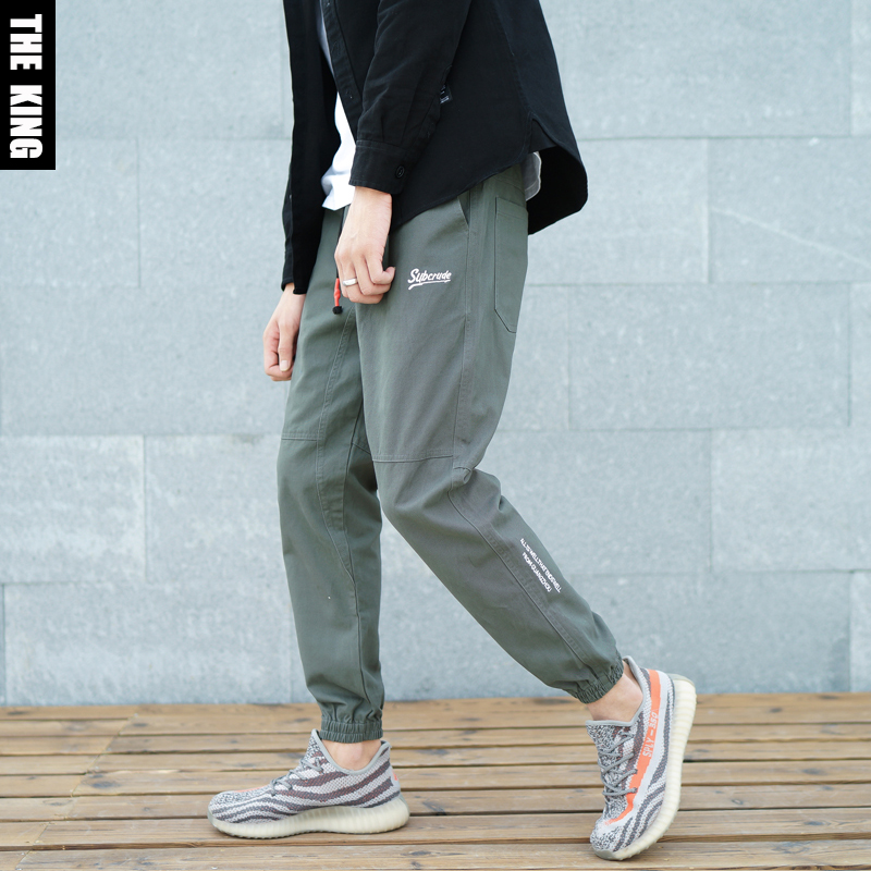 *Pre Order* Subcrude Japan กางเกงลำลองขาจั๊มแฟชั่นชาย/สีเขียว/สีดำ size M-3XL