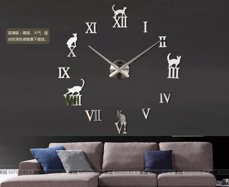 นาฬิกาDIY ขนาดจัมโบ้90cm สีเงิน big8B