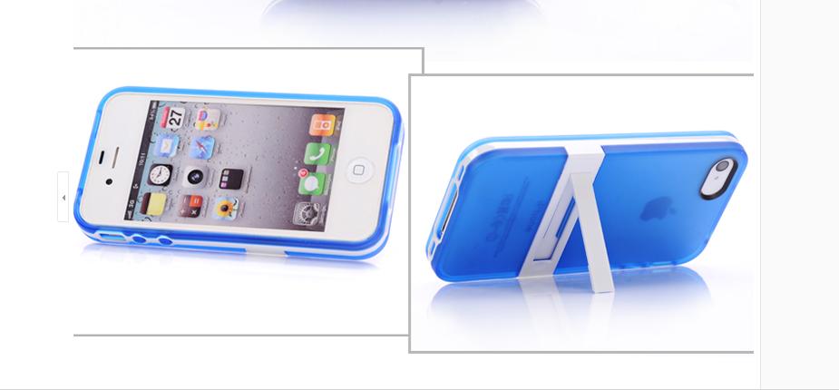 เคสไอโฟน 5/5s/SE (TPU Case) พร้อมขาตั้ง สีน้ำเงิน(ภาพแทน)