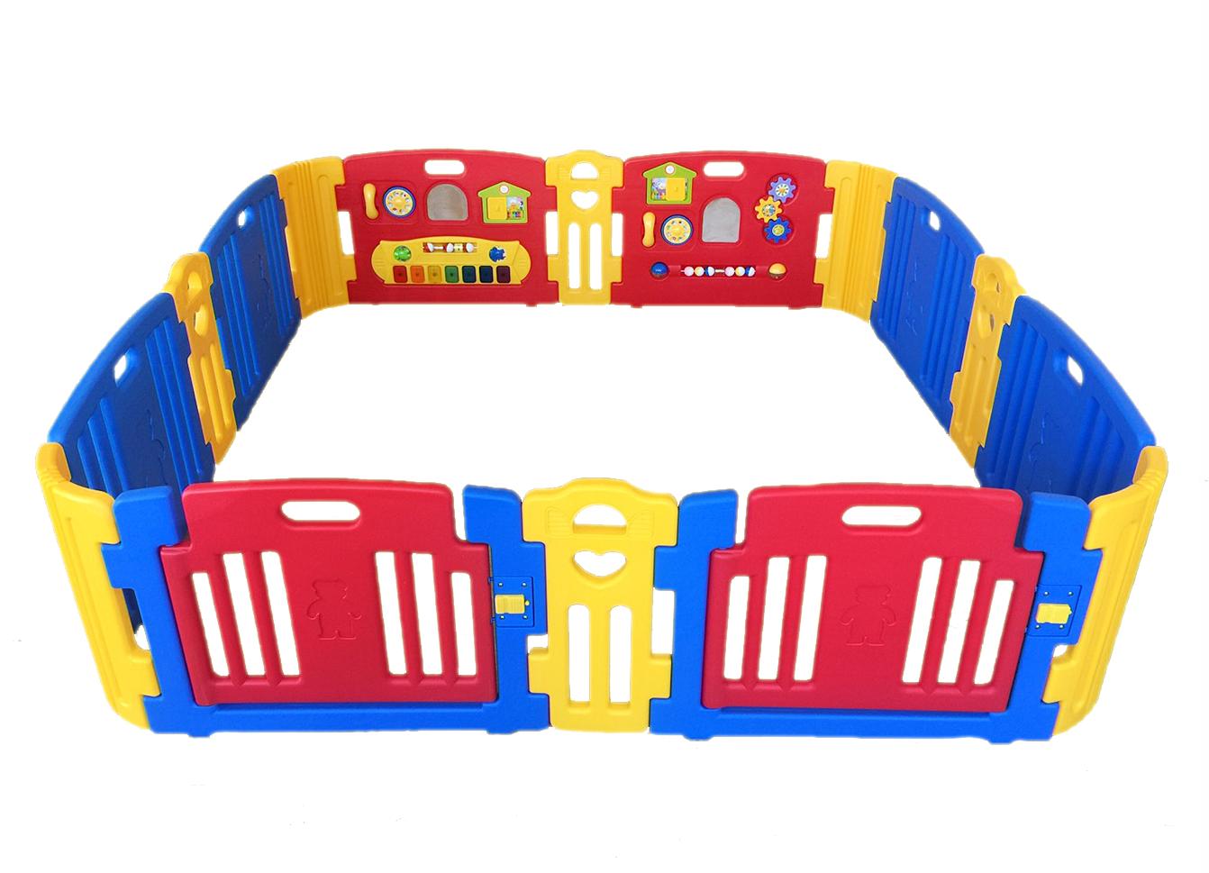 คอกกั้นเด็ก Haenim new สีแดงสดใส รุ่น Melody+ Playgame ไซร์ L