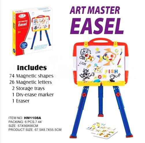 กระดานแม่เหล็ก First Classroom - Art Master Easel : ABC+Shapes (HM1108A)