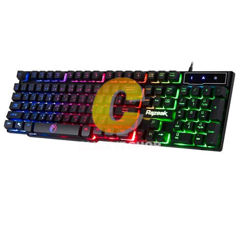 Keyboard Gaming Razeak RK-8165 - Black