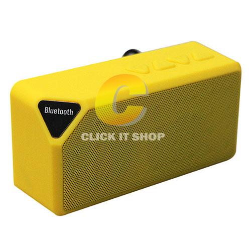 Mini X3 + BLUETOOTH FM,USB -สีเหลือง