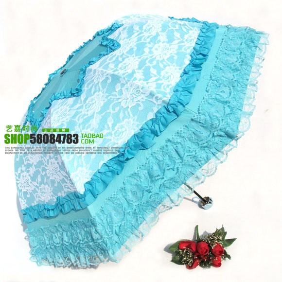 umbrella ร่มกันแดด ป้องกันรังสี UV ตกแต่งด้วยลูกไม้ สวย หวาน งดงามมากค่ะ (ตัวแทน 500บาท)