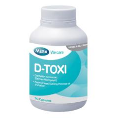 D-toxi (30 เม็ด) มีส่วนประกอบที่เหมาะสำหรับการบำรุงตับ
