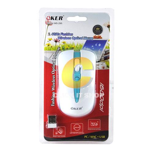 Oker wireless mouse ms-295 -Blue/White