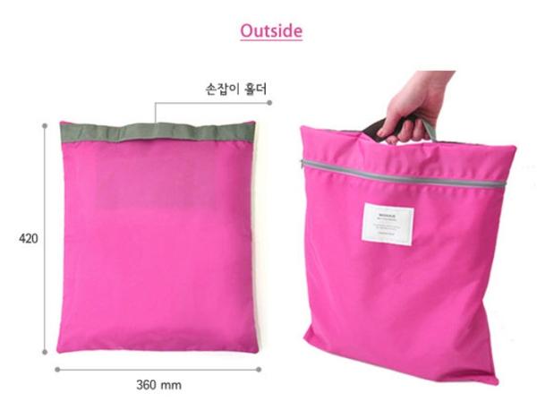 กระเป๋าถือ ทำจากผ้าร่มกันน้ำ สำหรับใส่รองเท้า ผ้าขนหนู ของใช้ ทั่วไป จัดระเบียบกระเป๋าเดินทาง