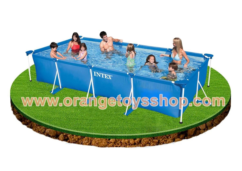 (ขนาด 10 ฟุต)สระน้ำขนาดใหญ่ 3 เมตร Intex Small Family Frame Pool 3 m x 2 m x 0.75 m #28272