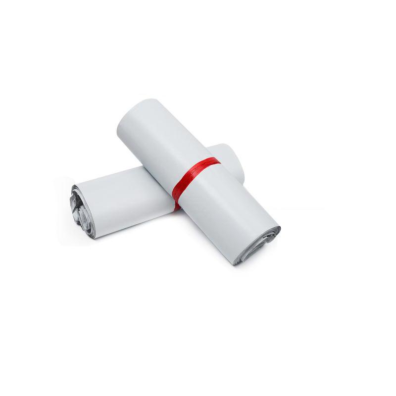 ถุงไปรษณีย์พลาสติกกันน้ำ พร้อมแถบกาว ขนาด 35 x 52 เซนติเมตร 100 ใบ -ขาว