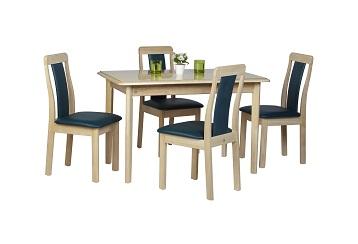 ชุดโต๊ะอาหารดีไซน์ 4 ที่นั่ง พนักพิงเบาะนุ่มนั่งสบาย สำหรับคอนโด ร้านอาหาร