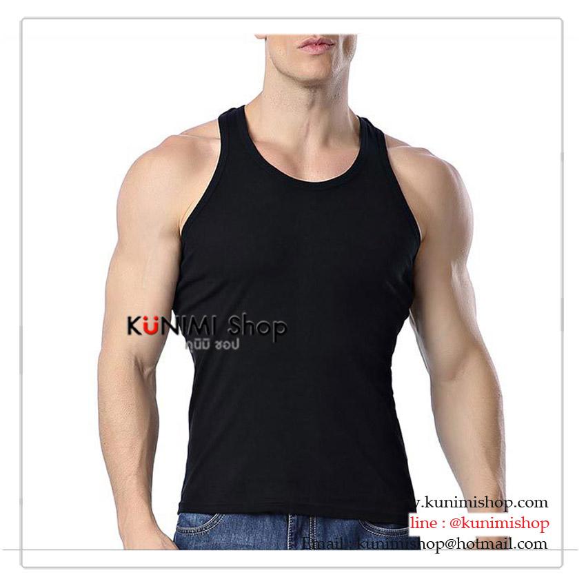 เสื้อกล้ามผู้ชาย สีล้วน ไม่มีสกีล จะใส่เดี่ยวๆ หรือใส่ซับในเสื้อเชิ้ต ก็ดูดีครับ