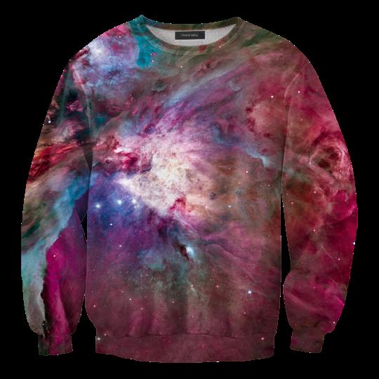 เสื้อยืดพิมพ์ลาย MR.GUGU & Miss GO : Pink nebula sweater