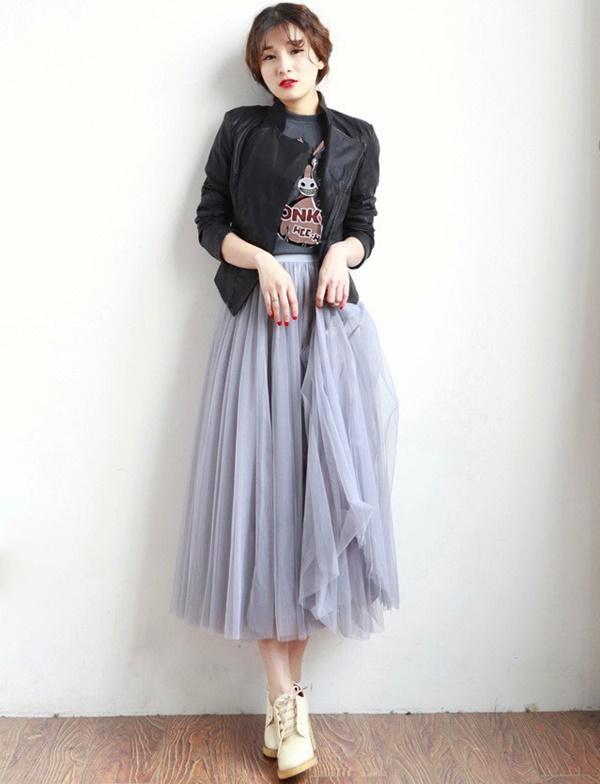พร้อมส่ง กระโปรง tutu ผู้ใหญ่ กระโปรงบาน กระโปรง Princess tutu skirt ผ้าตาข่าย 2 ชั้น กระโปรงออกงาน สำเนา สำเนา