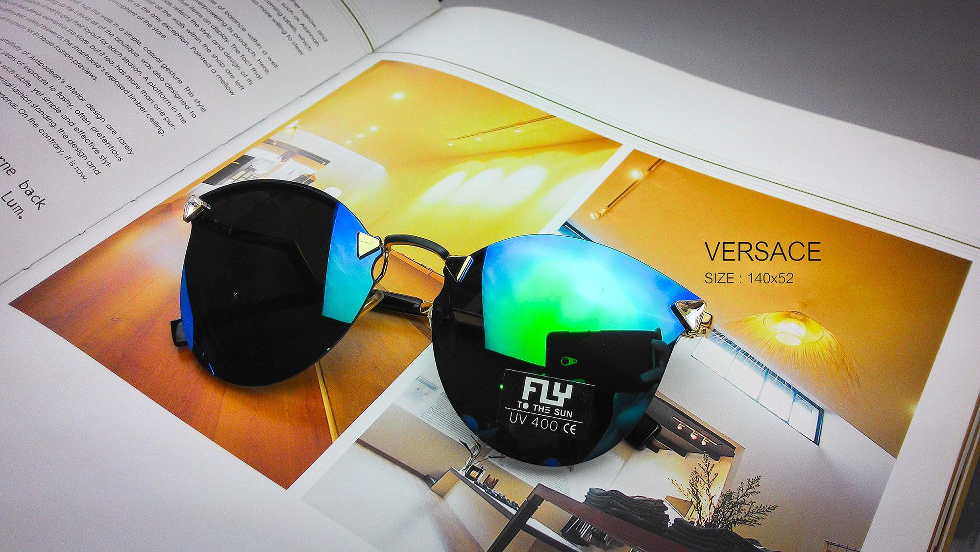 [พร้อมส่ง] แว่นกันแดด Fly to the sun รุ่น Versace