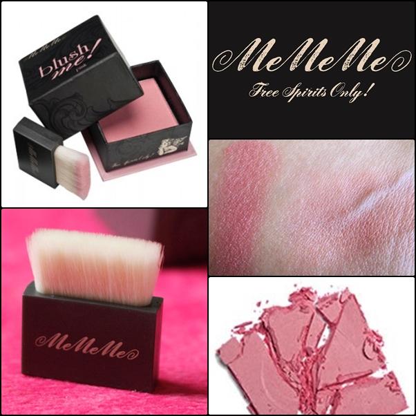 MeMeMe Blush me 8g #Pink สีชมพูใสนม พร้อมชิมเมอร์