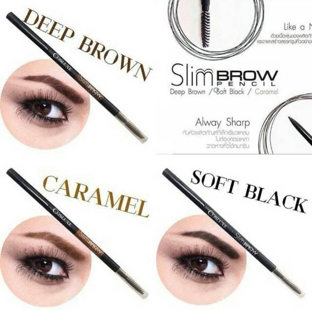 COSLUXE SLIMBROW PENCIL EYEBROW #Soft Black