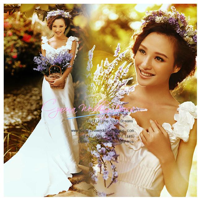 WM40011 ชุดแต่งงาน ขาย ราคาถูก สายเดี่ยว กระโปรงลากยาว สวย หรู ชุดถ่ายพรีเวดดิ้ง สไตล์เกาหลี