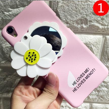 เคสมือถือ OPPO A37- เคสแข็งติดดอกไม้ หมุนดอกมีกระจก น่ารัก[Pre-Order]