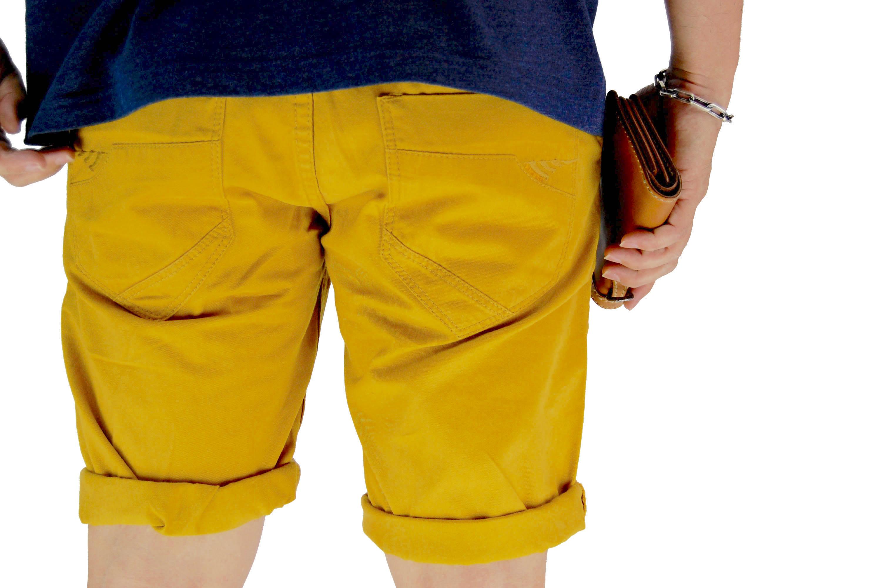 กางเกงขาสั้น สีเหลืองเข้ม NT28-1--7