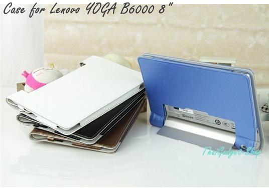 """เคส Lenovo YOGA B6000 8"""" ตรงรุ่น (High Quality Leather Stand Case)"""