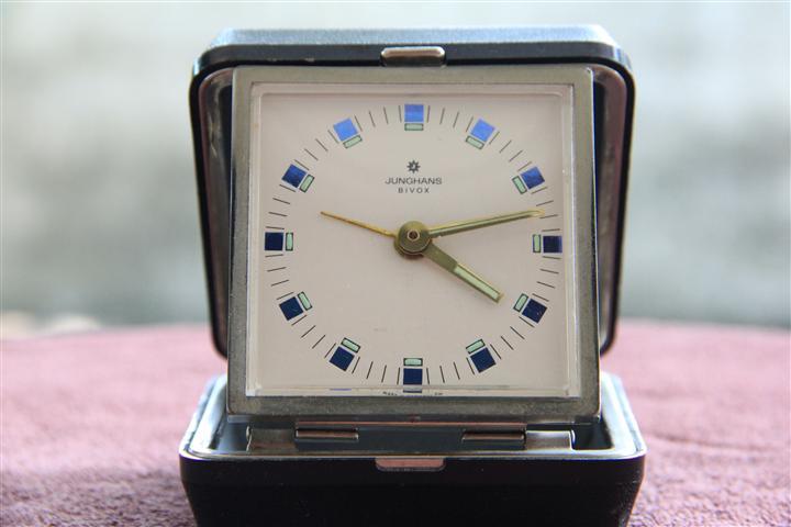 T0720 นาฬิกาปลูก Junghans Bivox เดินดีปลุกดี ส่ง EMS ฟรี