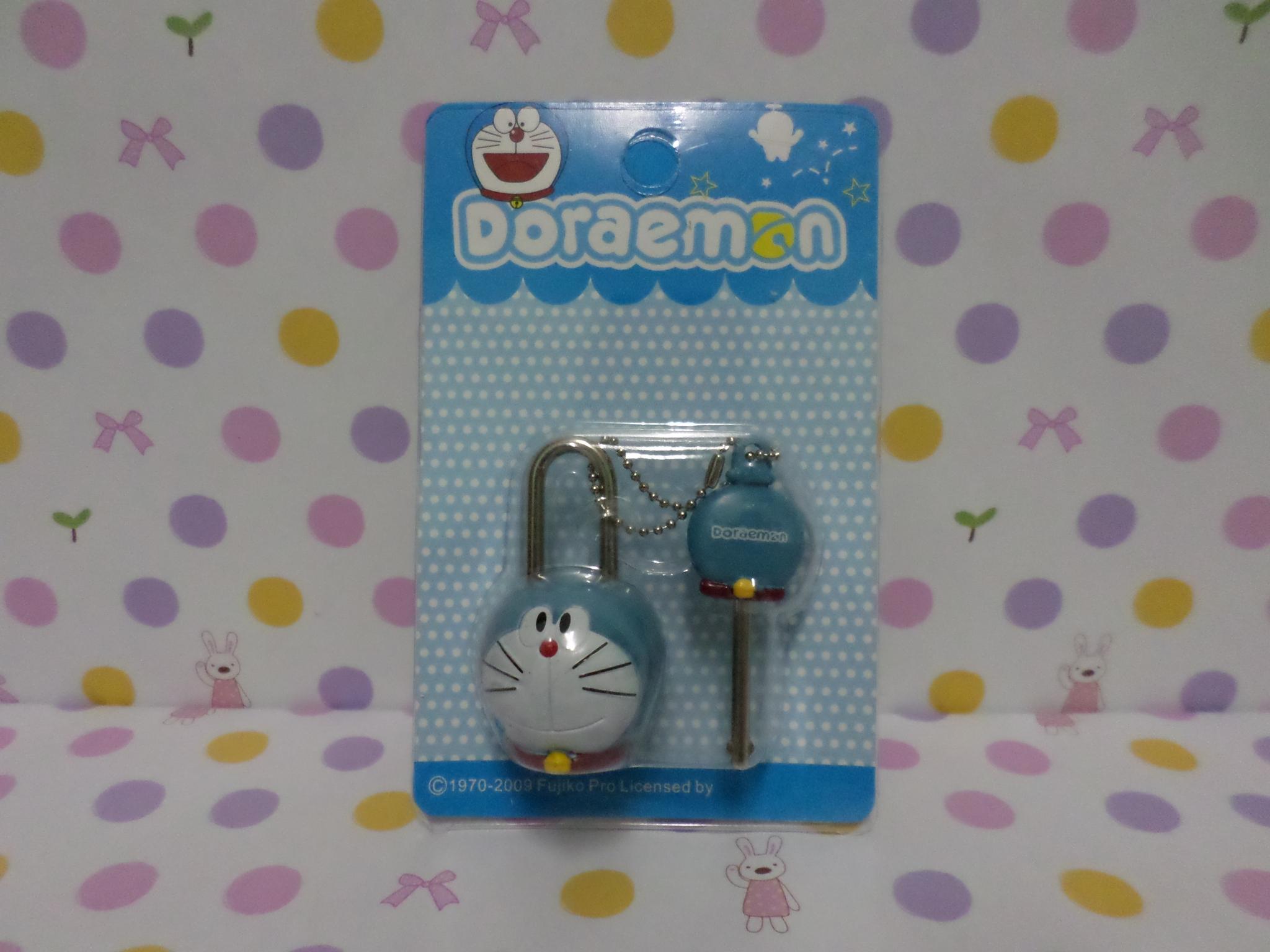 ชุดล๊อคกุญแจ โดราเอมอน doraemon ในชุดมีแม่กุญแจและลูกกุญแจ ขนาดแม่กุญแจสูง 4.5 ซม. ลูกกุญแจสูง 4.5 ซม.