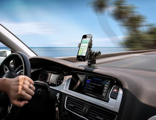 แท่นจับมือถือ/แท็บเล็ต ในรถยนต์ หัวจับแม่เหล็ก แบบติดตั้งกับคอนโซลได้