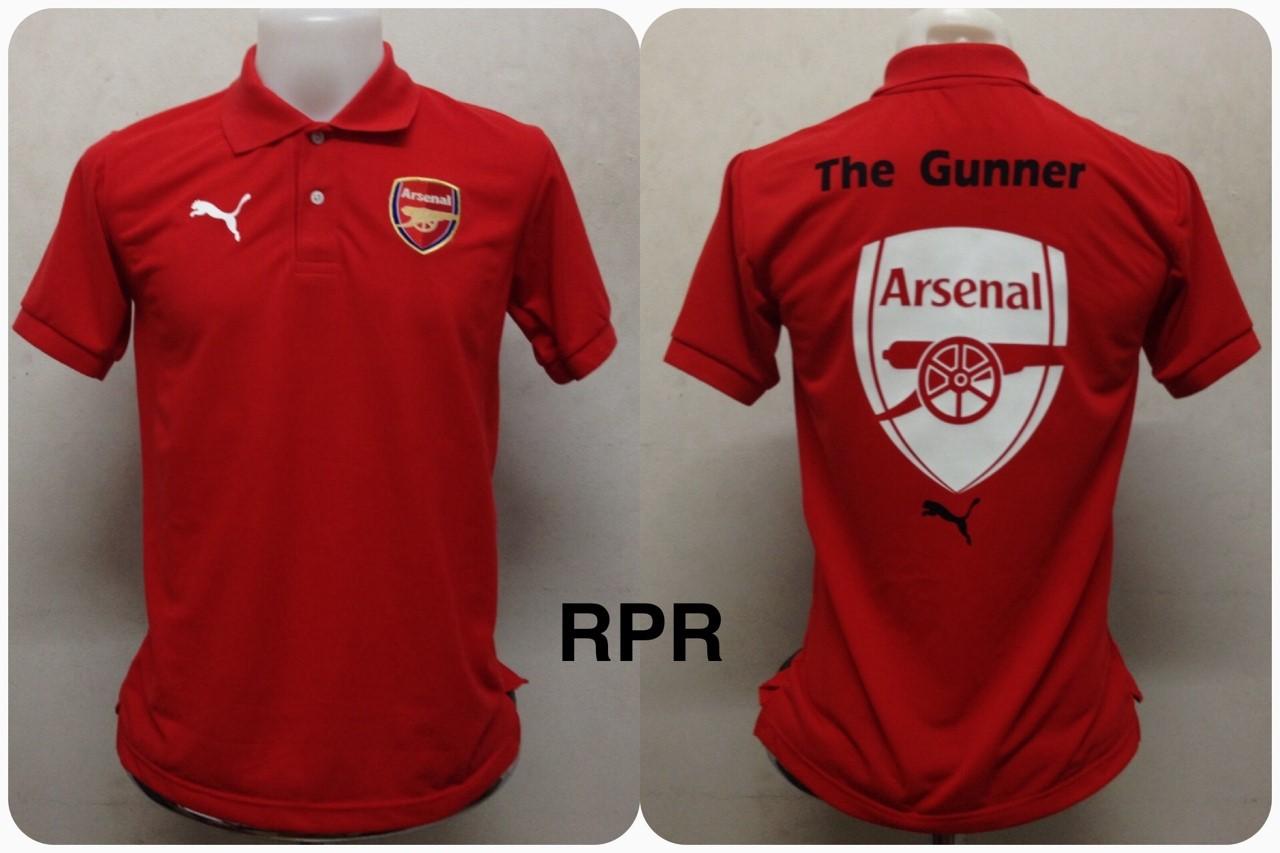 เสื้อโปโล อาร์เซนอล สีแดง RPR