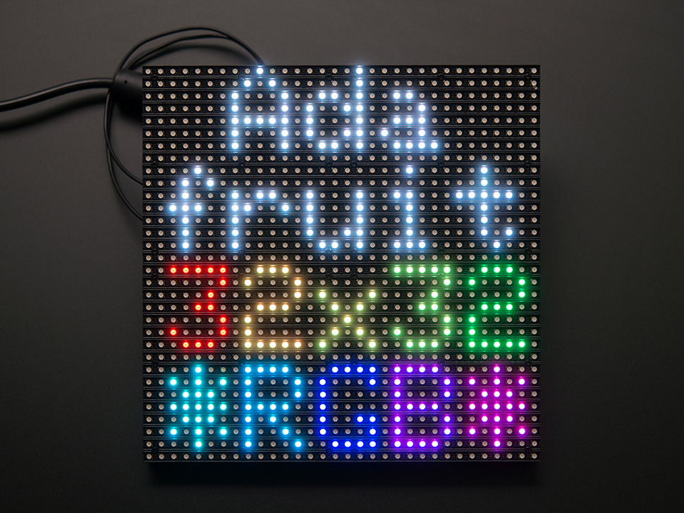 32x32 RGB LED Matrix Panel - 6mm Pitch (Adafruit)