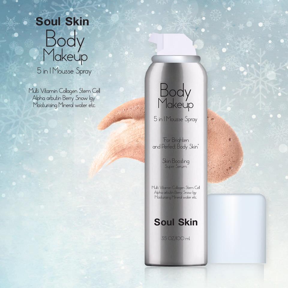 Soul Skin Body Makeup โซ สกิน บอดี้ เมคอัพ มูสครีมคูชั่นผิวใส