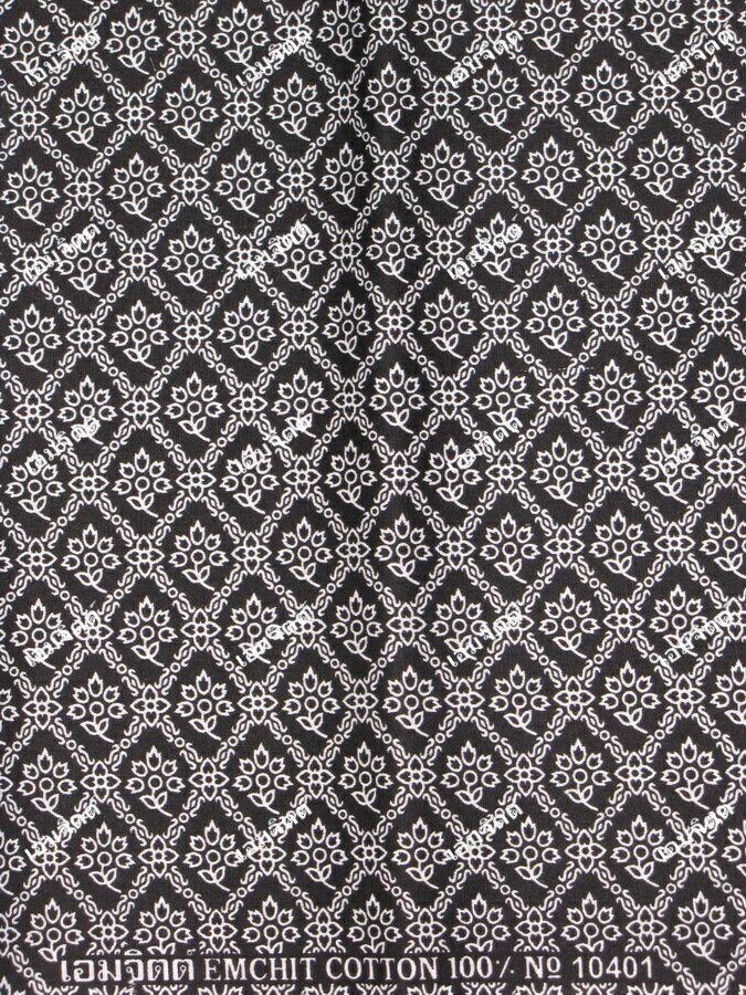 ผ้าถุงขาวดำ ec10401bk